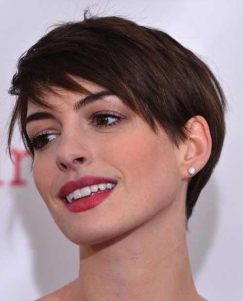 Anne Hathaway Short Pixie Hairstyles