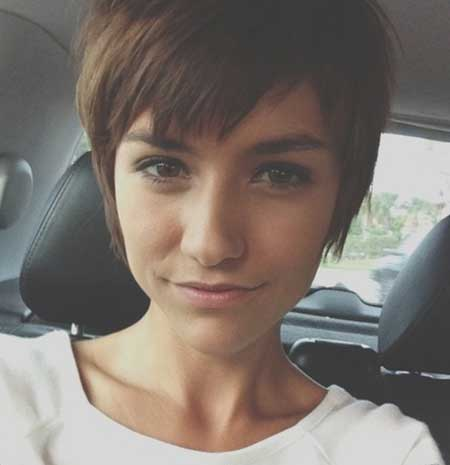 Short Boyish Straight Pixie