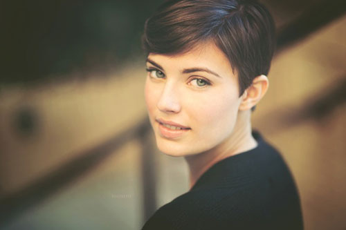 Short Pixie Hair From Side