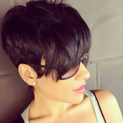 Short Dark Pixie Hairstyles-21
