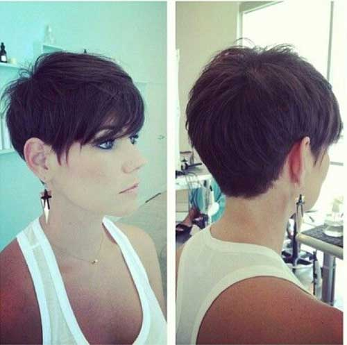 Short Dark Pixie Hairstyles-23