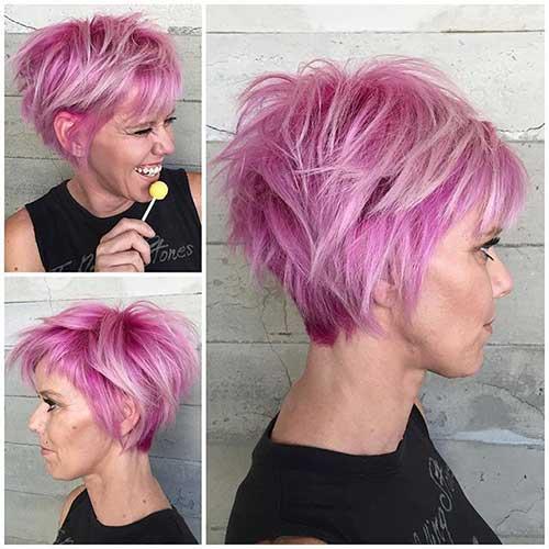 20 Pink Pixie Cuts