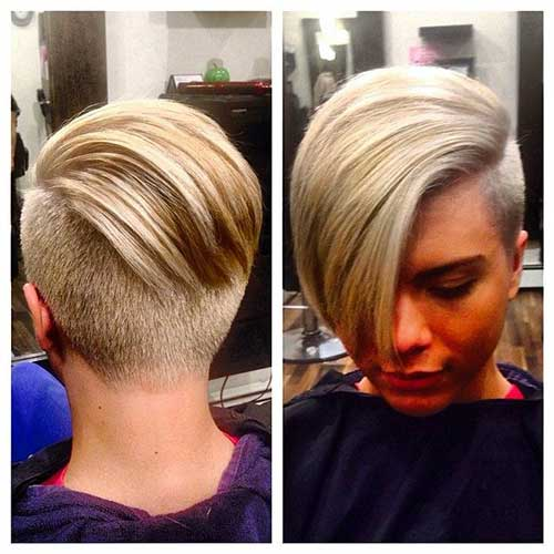 Pixie Haircuts with Shaved Sides