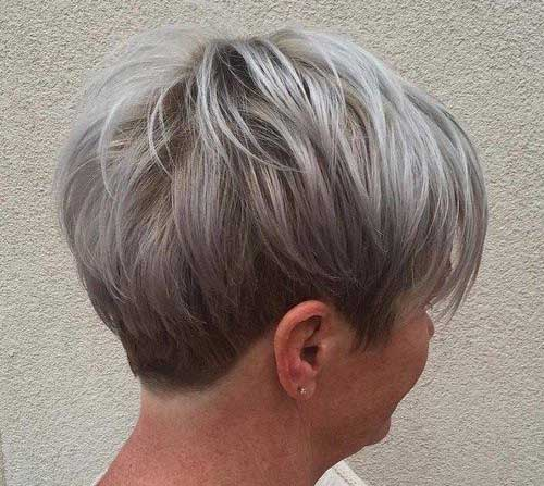 Pixie Hairstyles for Gray Hair