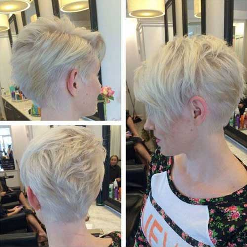 Short Pixie Haircuts for Gray Hair