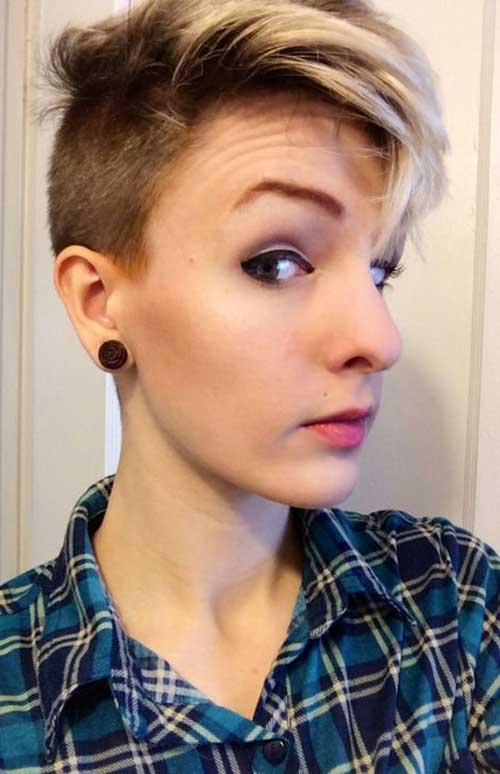 Half Shaved Pixie Cut-24