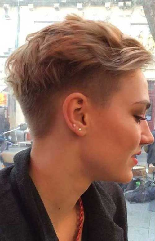 40 Half Shaved Pixie Cut Pixie Cut 2015