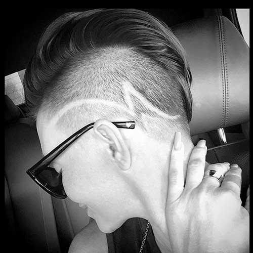 Half Shaved Pixie Cut-33
