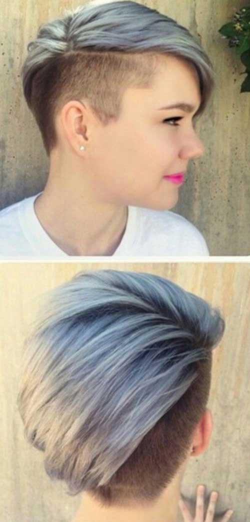 Прически с выбритым виском женские на короткие волосы
