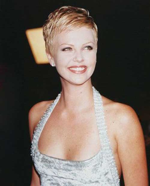 Charlize Theron Pixie Hairs