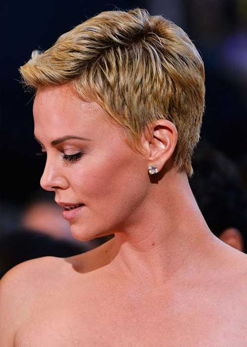 Charlize Theron Pixie Hairstyles