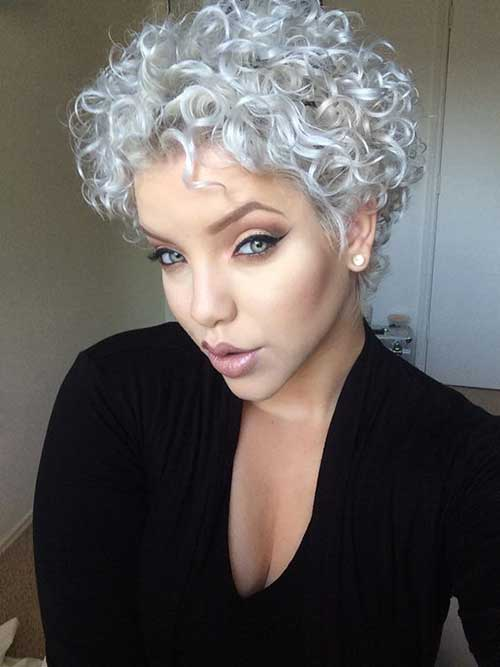 Pixie Style Curly Hairs