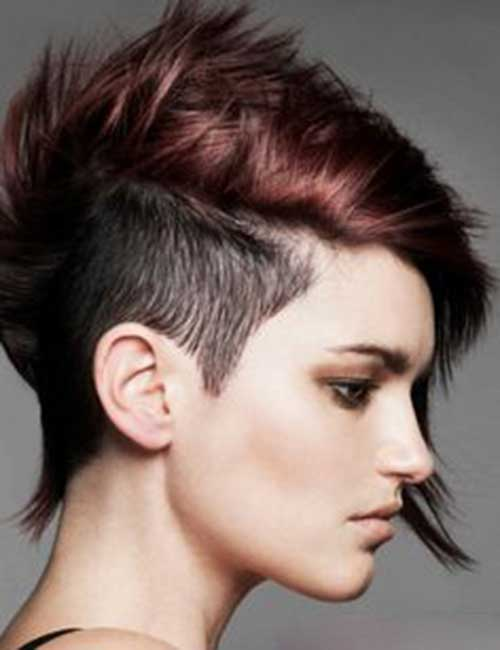 Popular Shaved Pixie Cuts