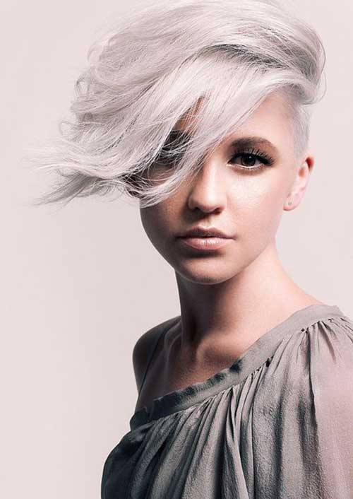 Short Gray Pixie Haircuts