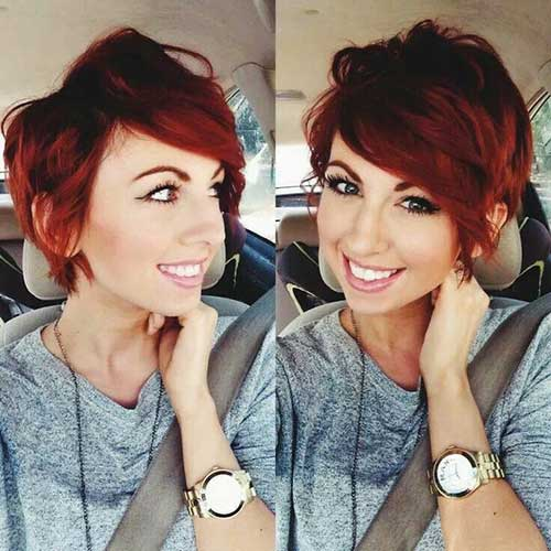 Red 2015 Pixie Hairstyle
