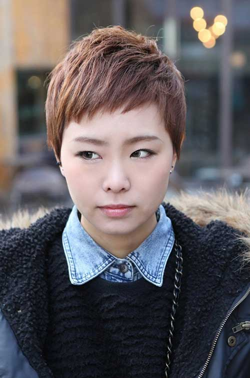 Asian Brown Pixie Cut