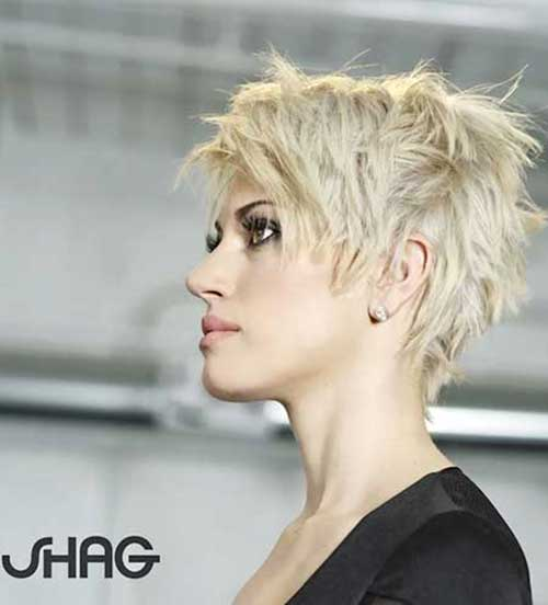 Asymmetrical Longer Wavy Pixie Haircuts