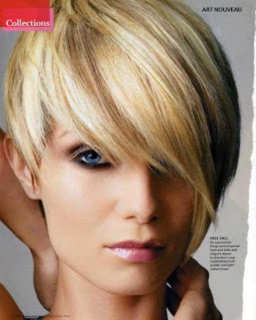 Asymmetrical Straight Pixie Haircuts