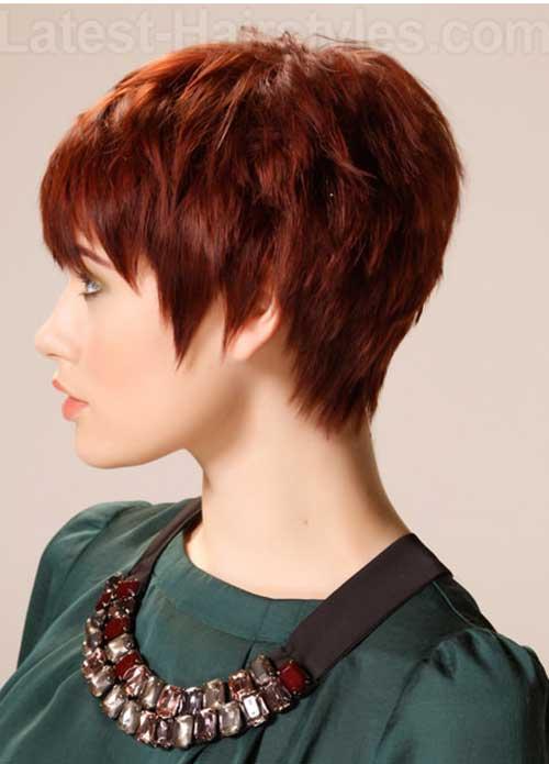 Auburn Chic Pixie Hair
