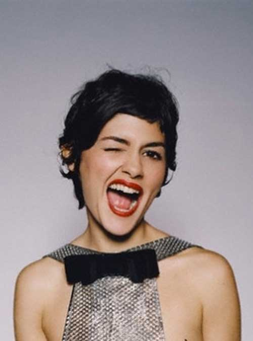 Audrey Tautou Dark Pixie Hair