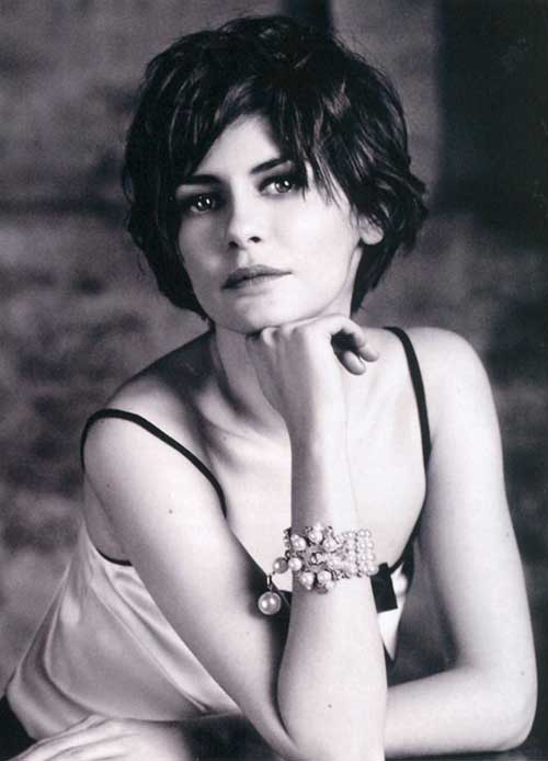 Audrey Tautou Curly Pixie Cut