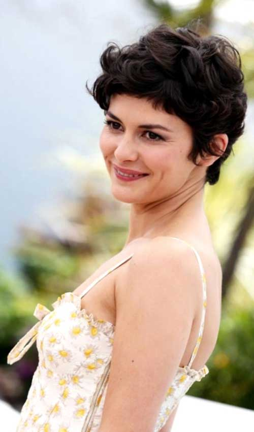Audrey Tautou Thick Pixie Haircut