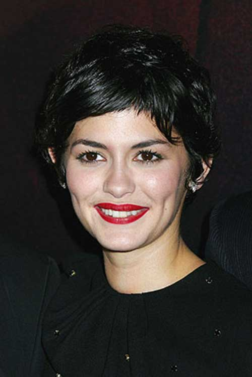 Audrey Tautou Short Pixie Hair Styles
