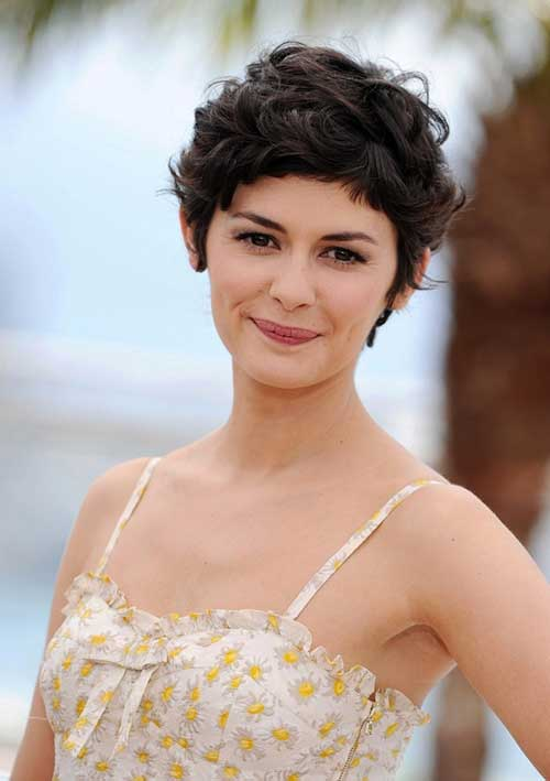 Audrey Tautou Thick Pixie Hair Cuts