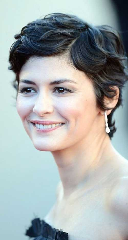 Audrey Tautou Thick Wavy Pixie Hair