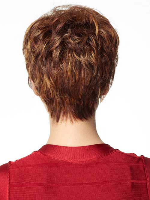 Back of Layered Pixie Haircut Ideas Pics