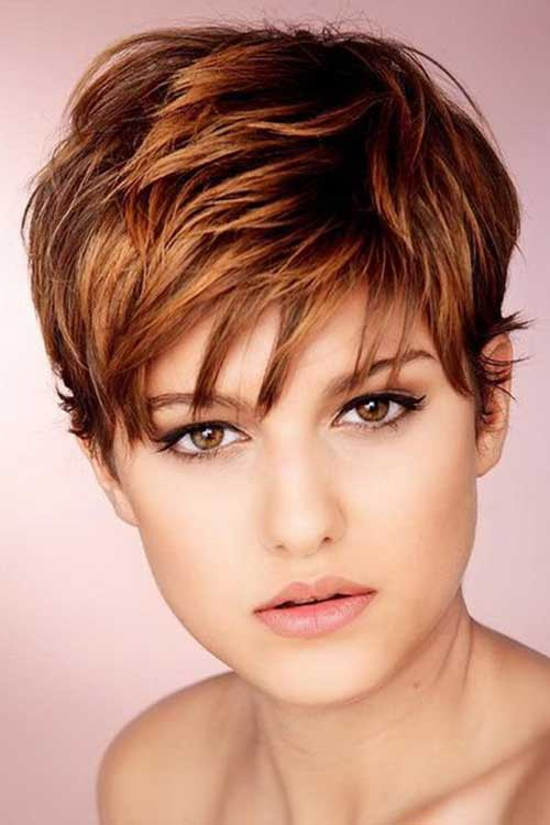 Best Auburn Color Pixie Hair