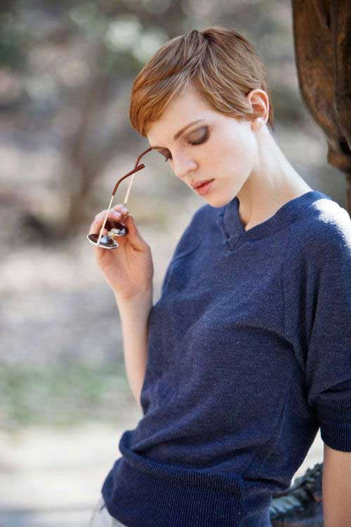 Best Brown Pixie Cut 2014