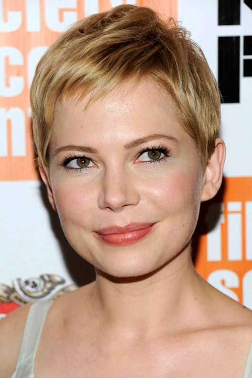 Blonde Pixie for Thin Straight Hair Styles