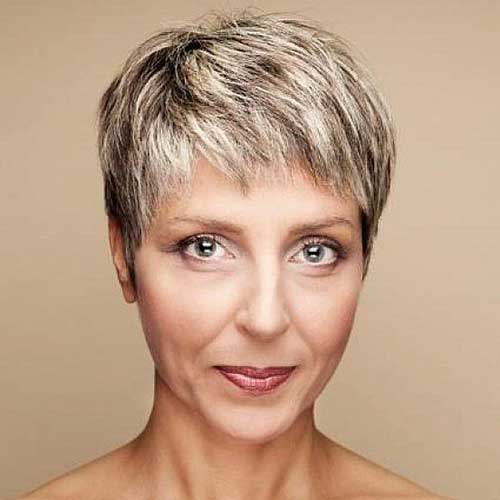 Boyish Hair Pixie Cuts for Women Over 50
