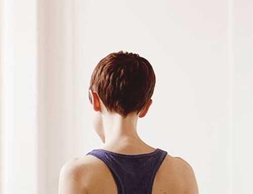 Brown Hair Short Pixie Back View Ideas