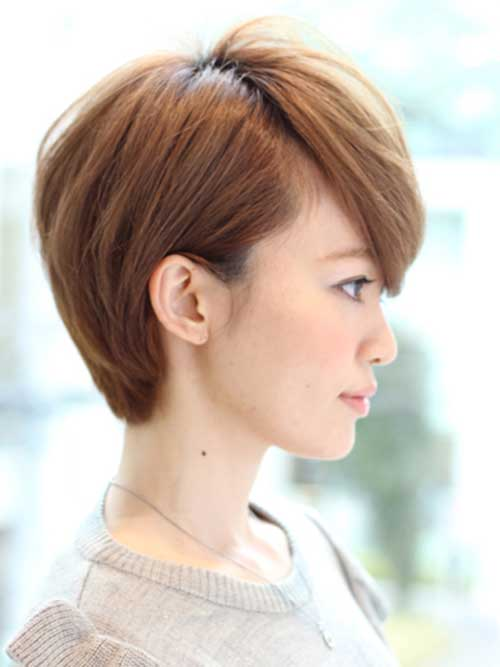 Brown Pixie Cuts Side View Look