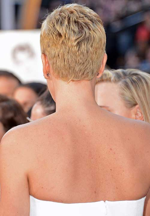 Charlize Theron Pixie Cut Back View