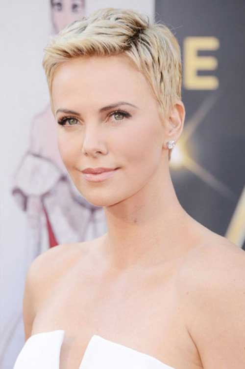 New Charlize Theron Pixie Haircut