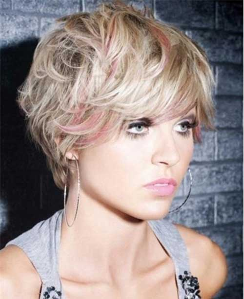 10. Choppy Pixie Blonde Hair with Pink Highlights