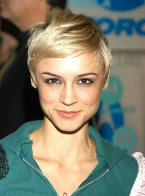 Classic Blonde Pixie Cropped