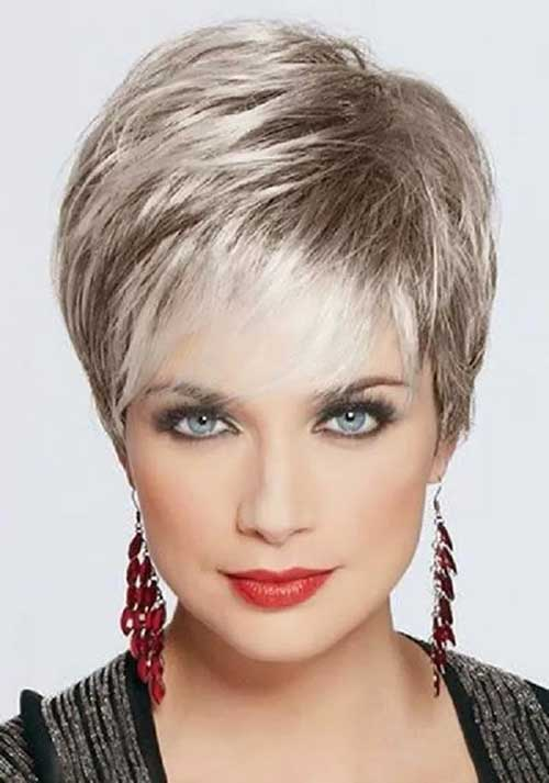 Classical Grey Pixie Cuts for Women