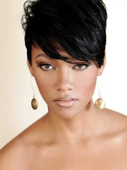 Cool Black Pixie Haircuts Idea