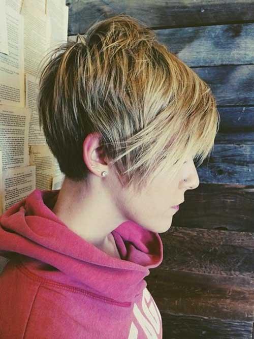 Cropped Long Pixie Haircut