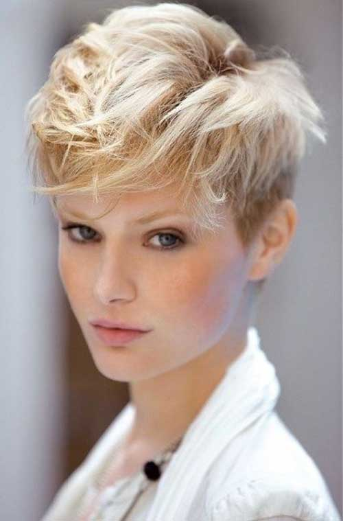 Cute Blonde Long Pixie Cuts