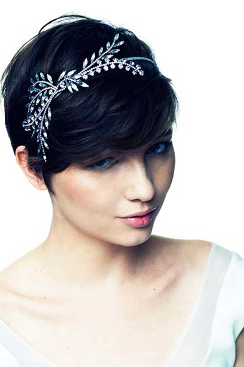 Cute Headband Pixie Hairstyles for Wedding