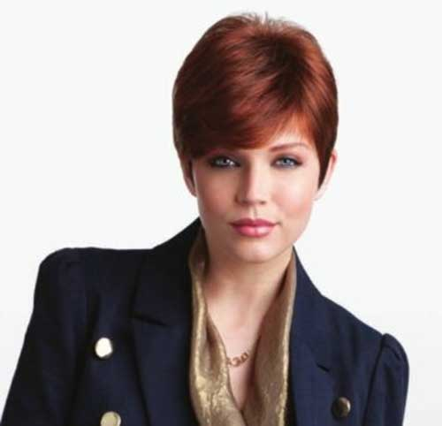 Cute Red Pixie Cuts for Round Faces