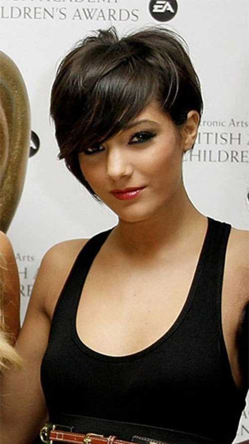 Cute Dark Pixie Haircuts 2014