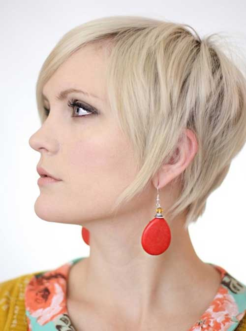 Cute Short Blonde Pixie Haircuts 2014