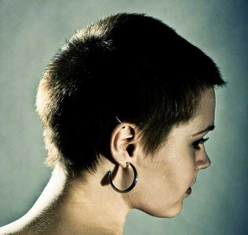 Dark Pixie Hair Cut Side View Look 2015