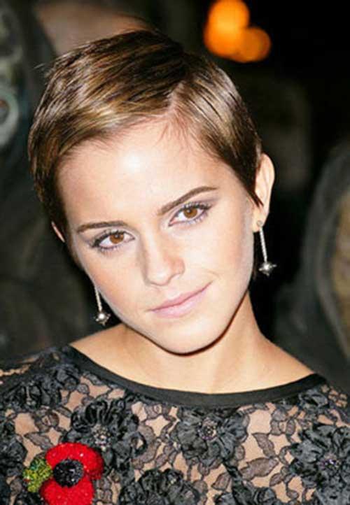 Emma Watson Dark Pixie Haircuts